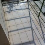 Očištěný povrch balkonu